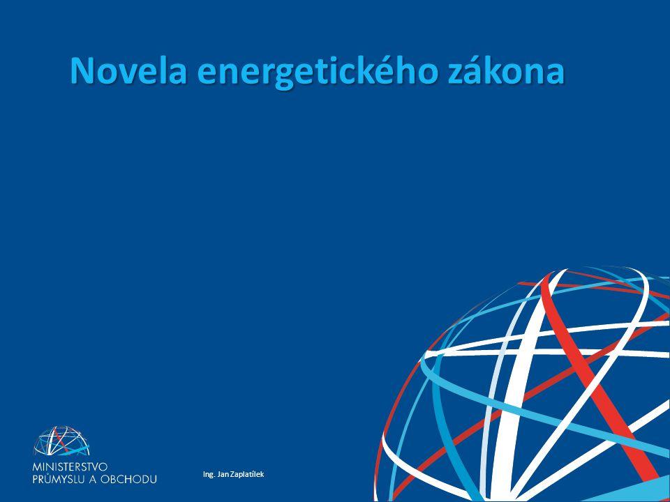Ing. Jan Zaplatílek Novela energetického zákona