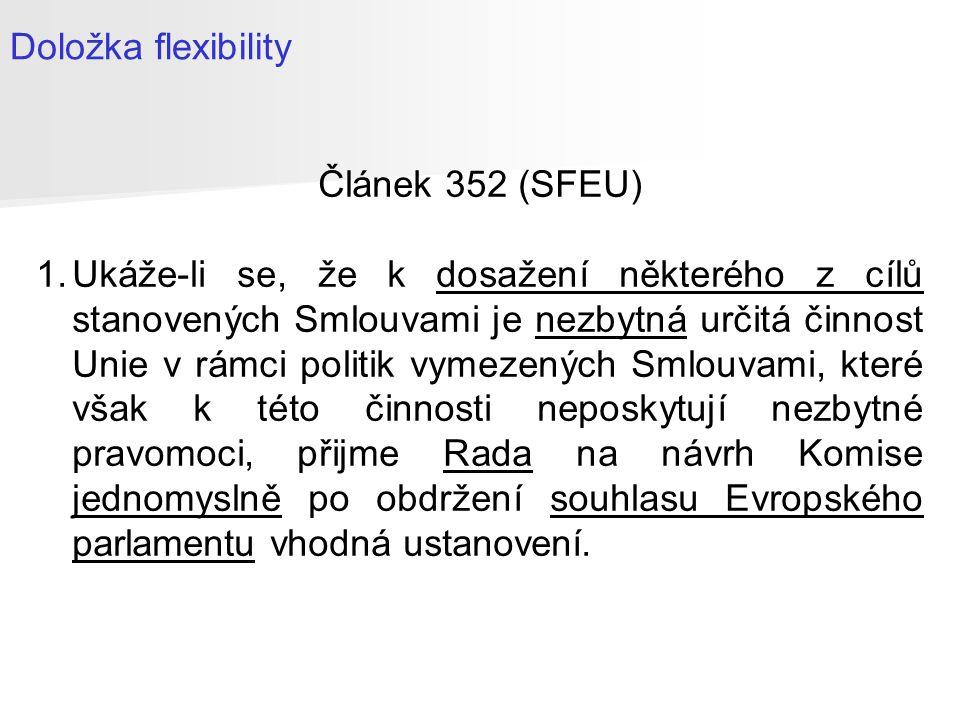 Právní subjektivita Unie Článek 47 (SEU) Unie má právní subjektivitu.