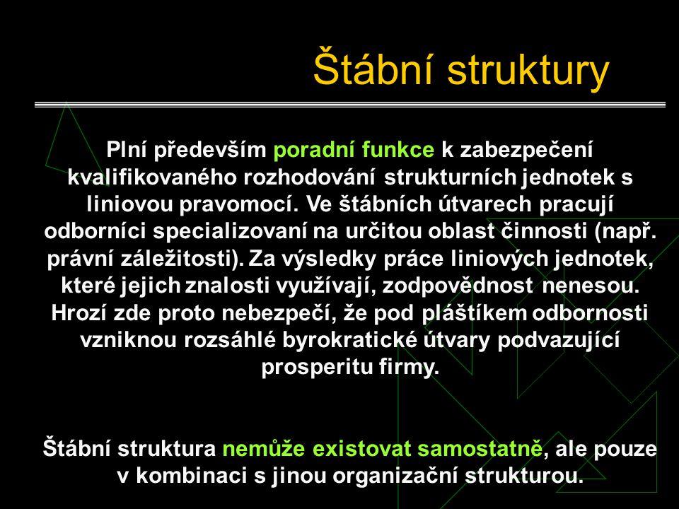 Příklad liniové struktury