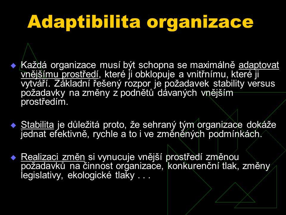 Vztah specializace delegace moci Specializace práce Stupeň delegování pravomocí