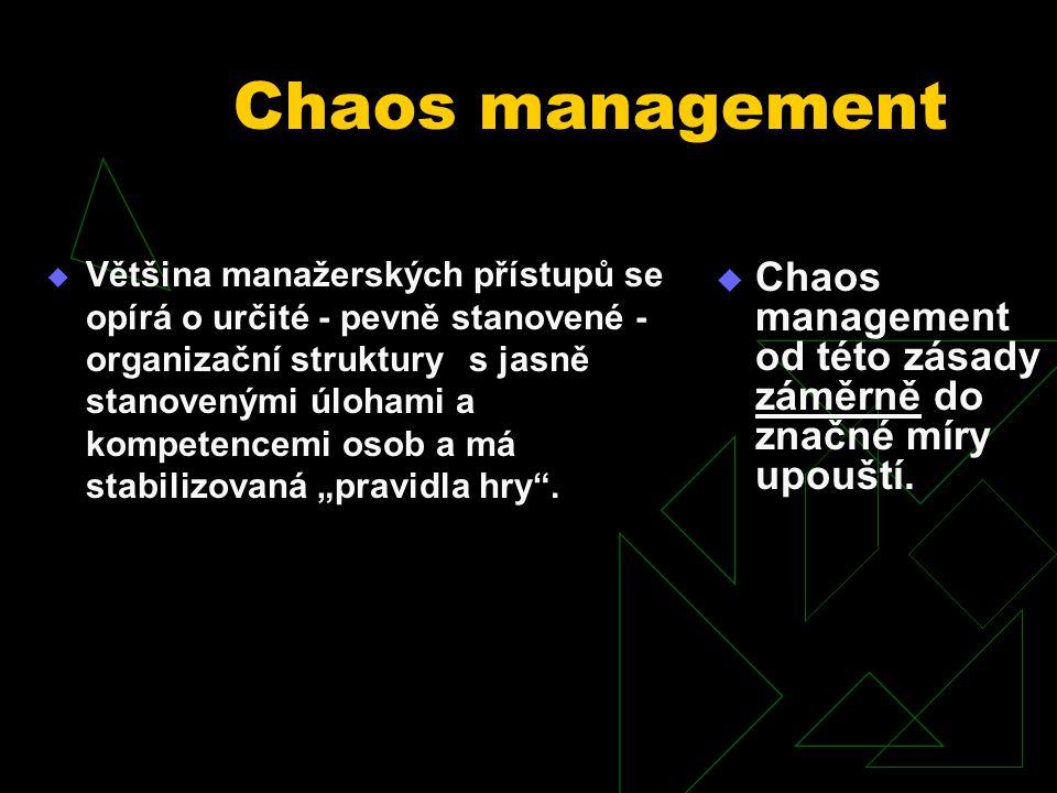 Tento výraz má dvojí - naprosto rozdílný - význam  označení pro neúspěšné, bezkoncepční řízení organizace  označení specifické manažerské koncepce uplatňované zejména v počátečním stadiu rozvoje organizace.