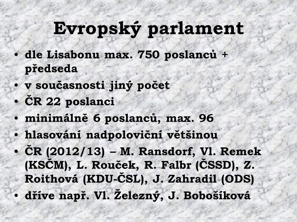 Evropský parlament dle Lisabonu max.