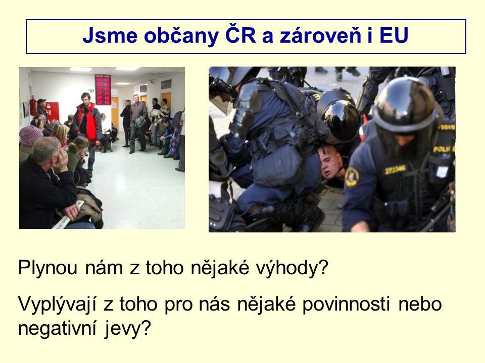 Jsme občany ČR a zároveň i EU Plynou nám z toho nějaké výhody.