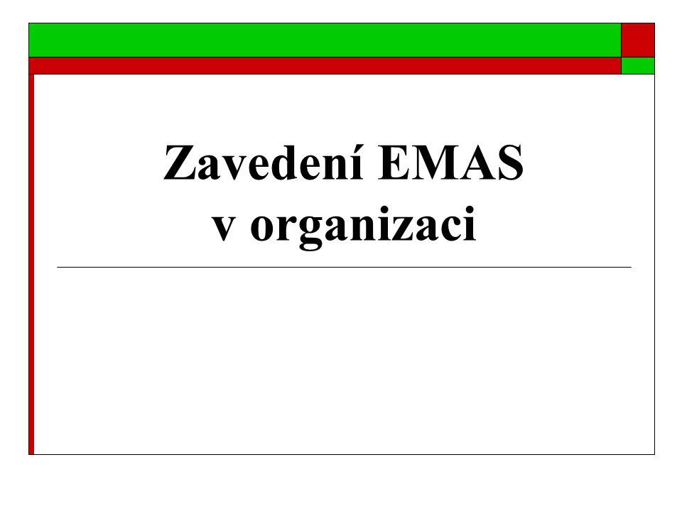 Zavedení vlastního systému EMAS 1.Definování environmentální politiky 2.