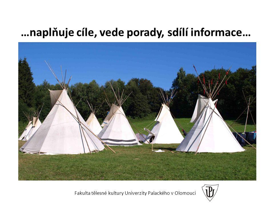 …předvídá a nalézá řešení překážek, naslouchá… Fakulta tělesné kultury Univerzity Palackého v Olomouci