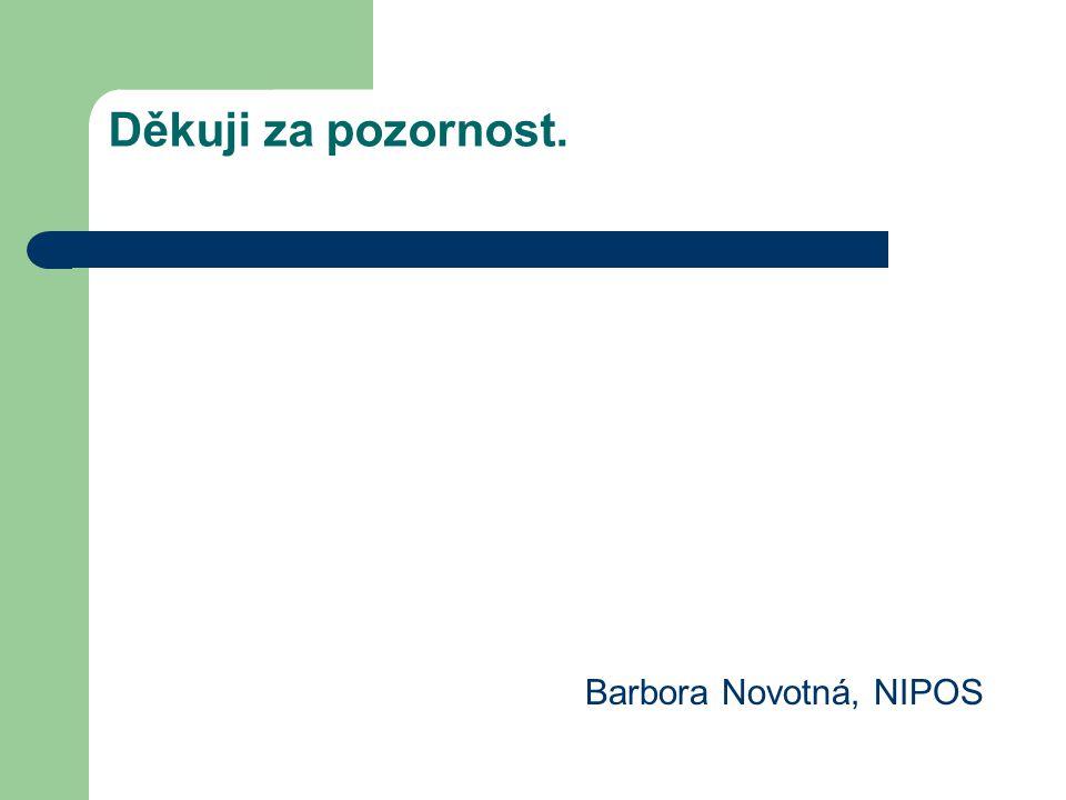 Děkuji za pozornost. Barbora Novotná, NIPOS