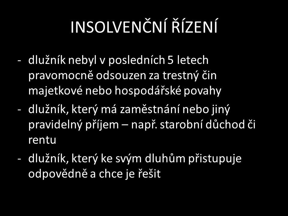 INSOLVENČNÍ ŘÍZENÍ Zdroje: www.businessinfo.cz vlastní text Škvára Miroslav, Finanční gramotnost, Praha 2011, ISBN 978-80-904823-0-2