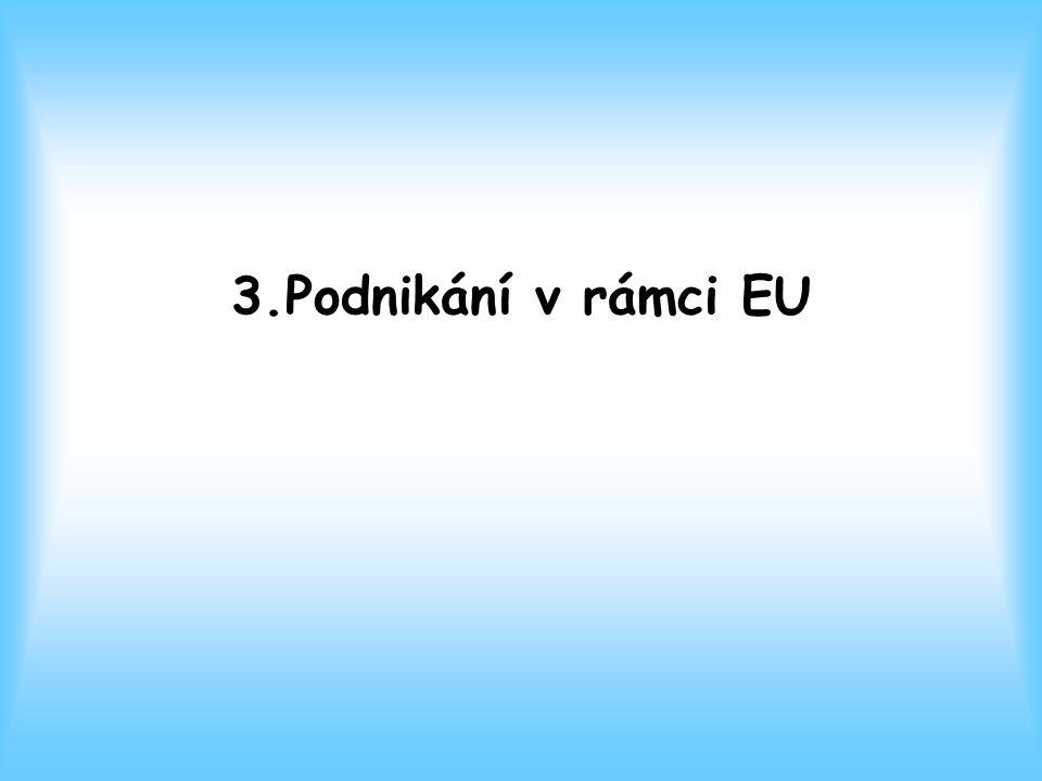 3.Podnikání v rámci EU