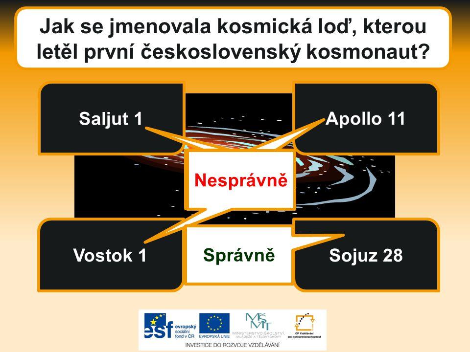Jak se jmenovala kosmická loď, kterou letěl první československý kosmonaut.