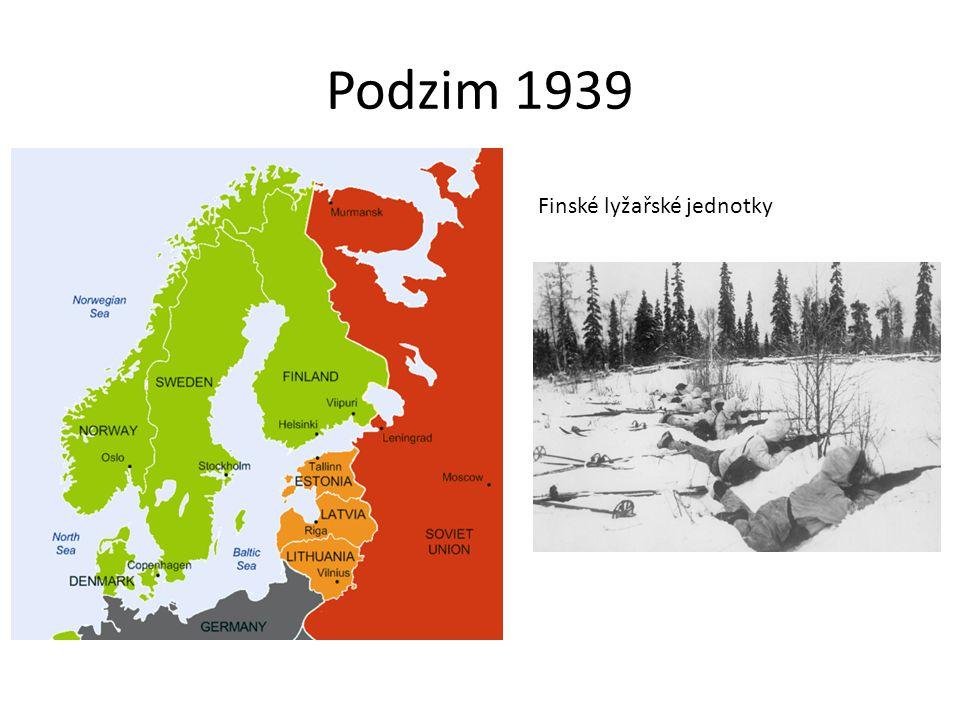 Podzim 1939 Finské lyžařské jednotky