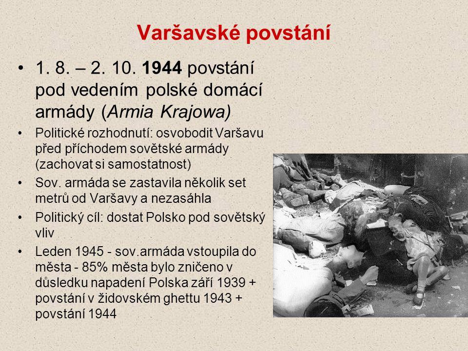 Varšavské povstání 1.8. – 2. 10.