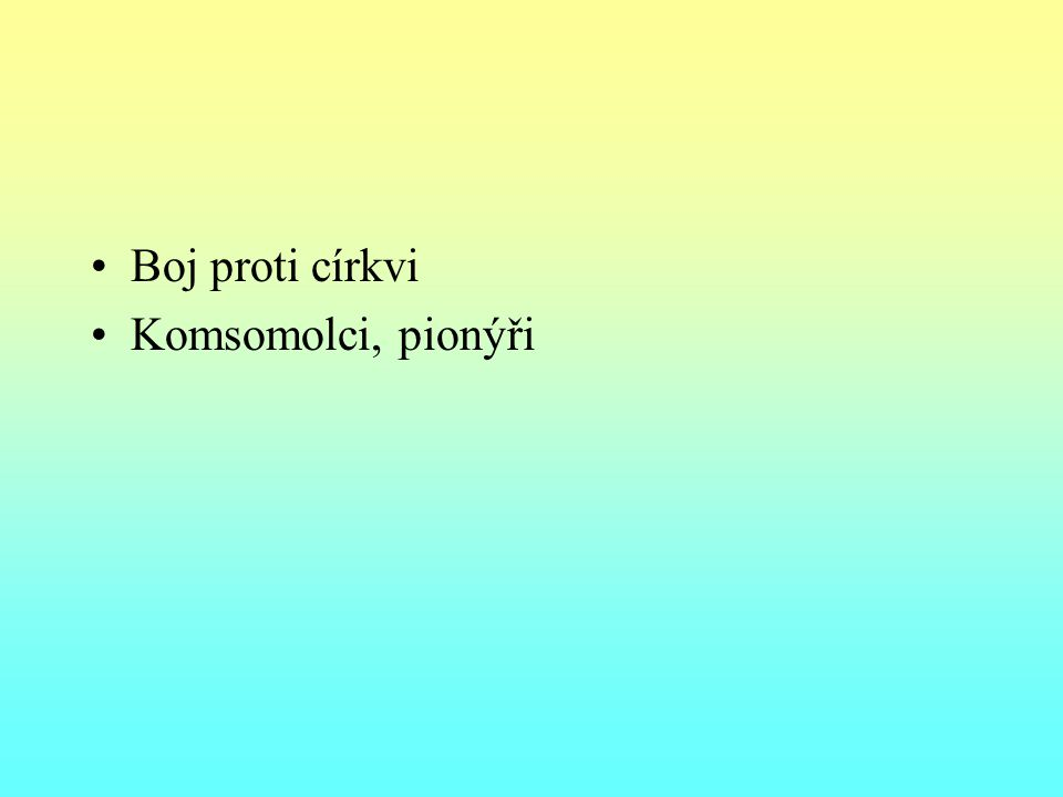 Národnostní otázka 1917 – Deklarace práv národů Ruska – právo na sebeurčení až do odtržení – formalita 1917 – Finsko 1921 – Gruzie – masakr; Ázerbajdžán polsko-sovětská válka 1920 – 1921 – Pobaltí samostatné, Ukrajina rozdělena 1917 – 1922 Sovětské Rusko – od 1922 SSSR