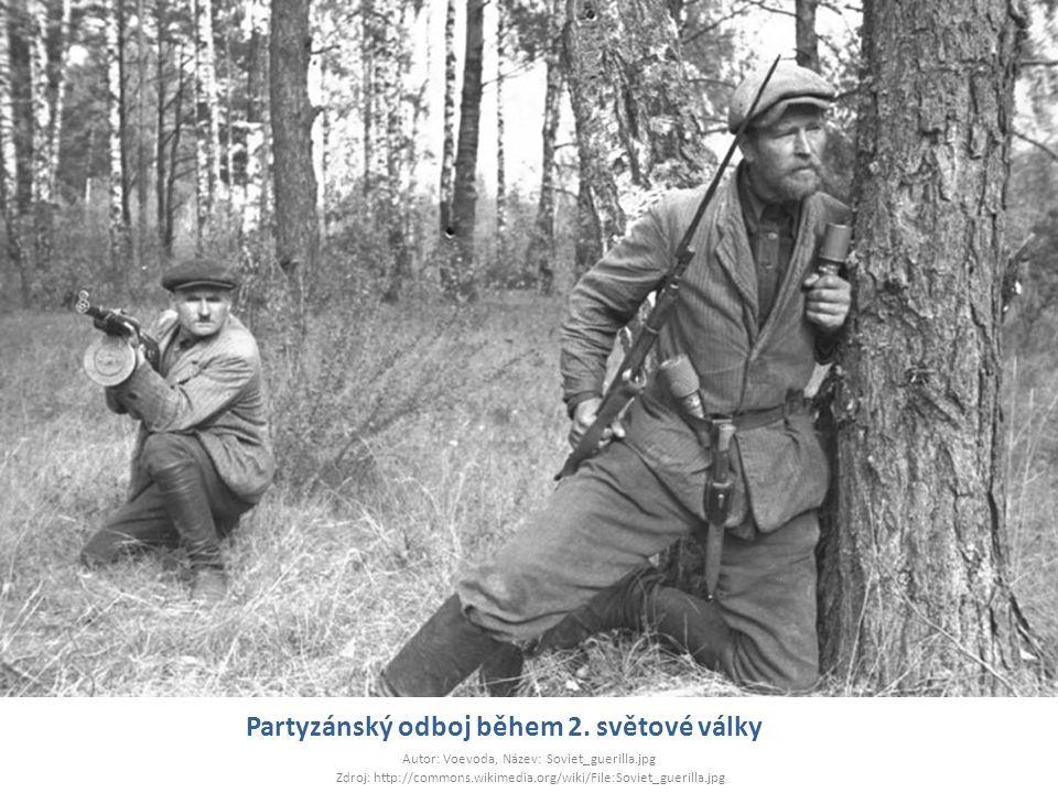 Partyzánský odboj během 2. světové války Autor: Voevoda, Název: Soviet_guerilla.jpg Zdroj: http://commons.wikimedia.org/wiki/File:Soviet_guerilla.jpg