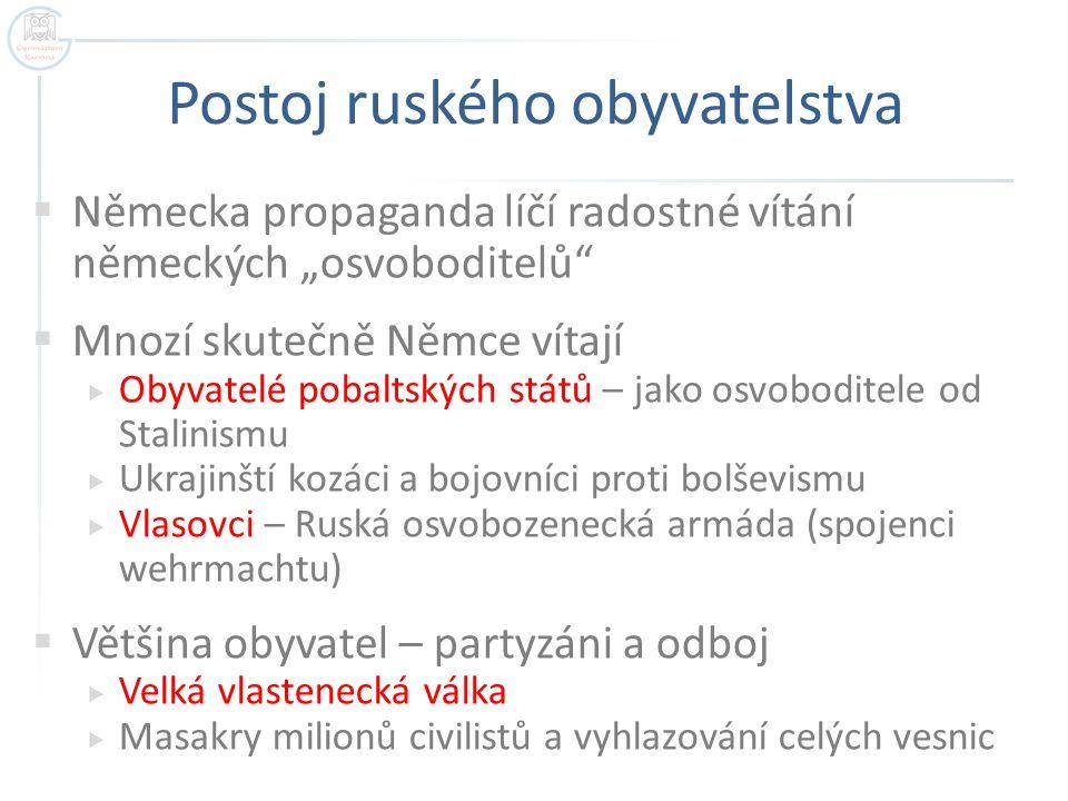 """Německá propaganda – vítání německých """"osvoboditelů Autor: Harschneck, Název: Bundesarchiv_Bild_101I-020-1262-26%2C_Russland-S%C3%BCd%2C_Soldaten_mit_Zivilbev%C3%B6lkerung.jpg Zdroj: http://cs.wikipedia.org/wiki/Soubor:Bundesarchiv_Bild_101I-020-1262-26,_Russland-S%C3%BCd,_Soldaten_mit_Zivilbev%C3%B6lkerung.jpg"""