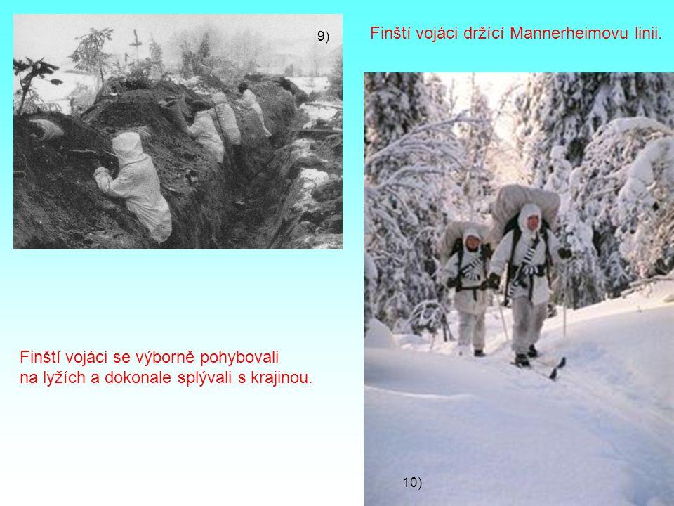 Finští vojáci držící Mannerheimovu linii.