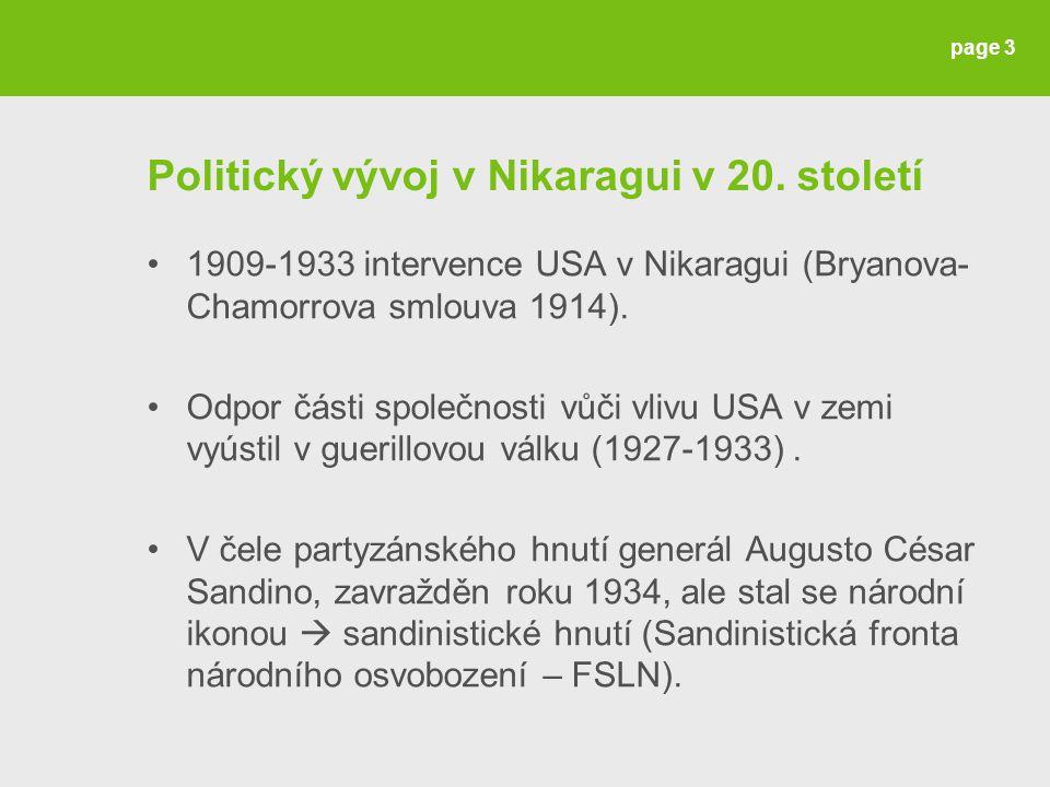 page 3 Politický vývoj v Nikaragui v 20.