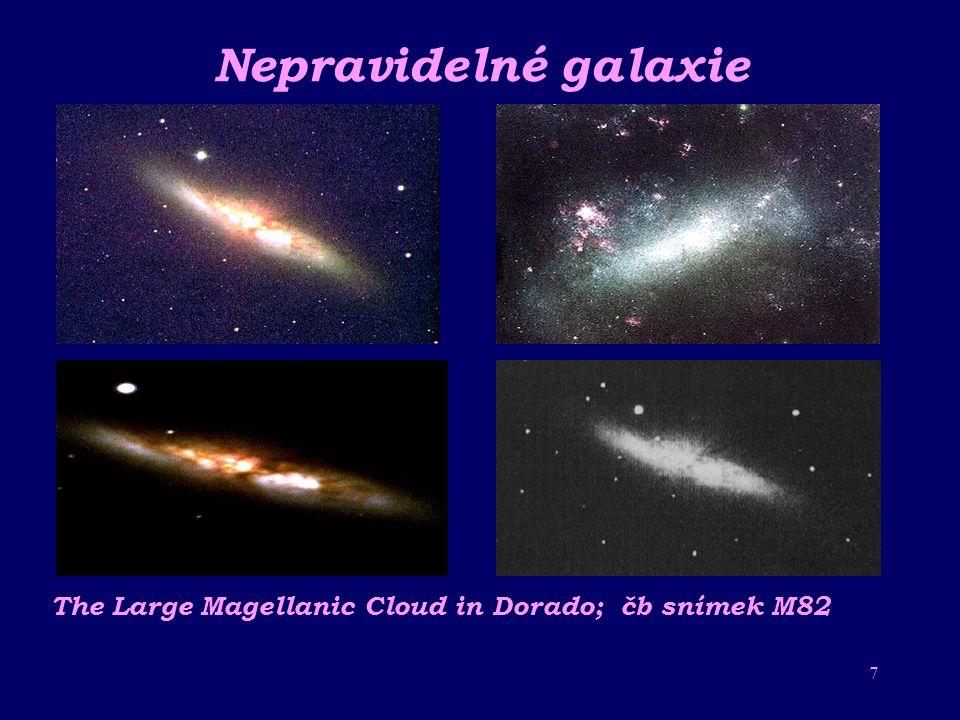 6 Čočkovité galaxie M 85 v Coma Berenices Vřetenovitá galaxie v Panně M84