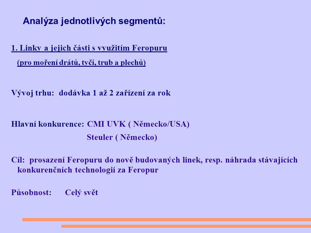 Analýza jednotlivých segmentů: 1.