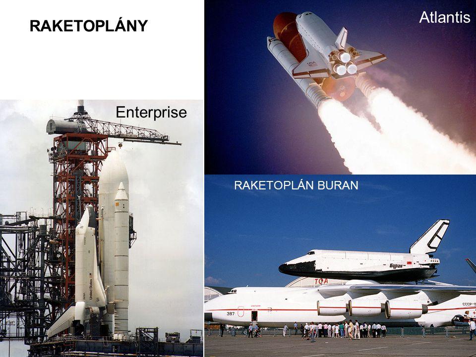 RAKETOPLÁN BURAN Enterprise Atlantis RAKETOPLÁNY