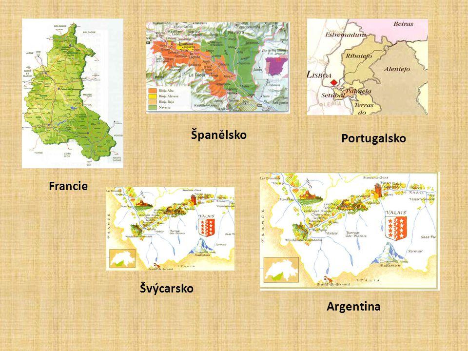 Francie Španělsko Portugalsko Švýcarsko Argentina