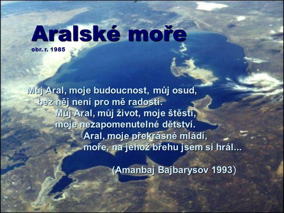 Aralské moře obr.r. 1985 Můj Aral, moje budoucnost, můj osud, bez něj není pro mě radosti.