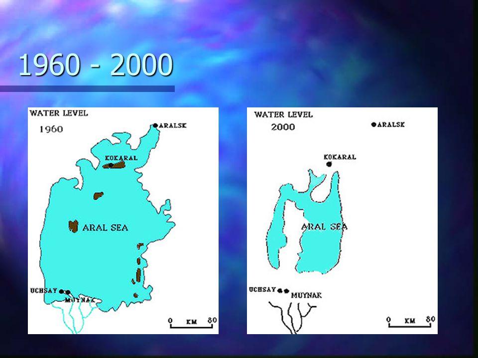 Původní Aral v číslech n n rozloha 66 458 km 2, n n největší délka 428 km, šířka 284km n n průměrná hloubka 20-25m, maximální 68m. n n úhrn srážekkole