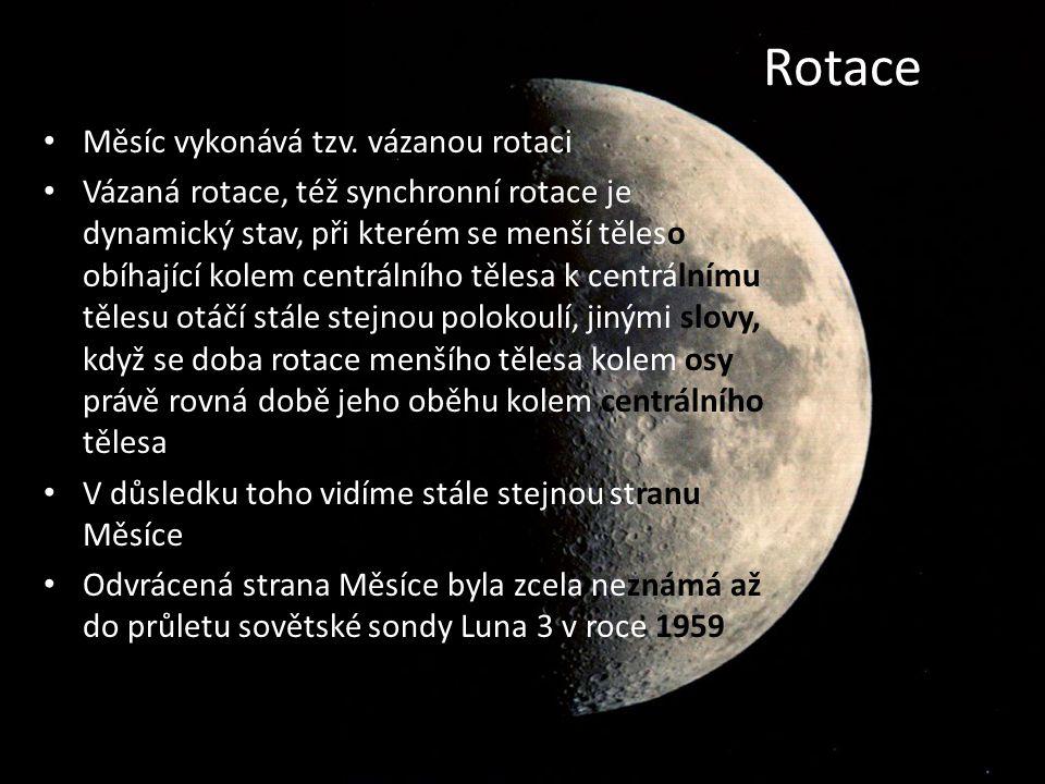 Rotace Měsíc vykonává tzv.