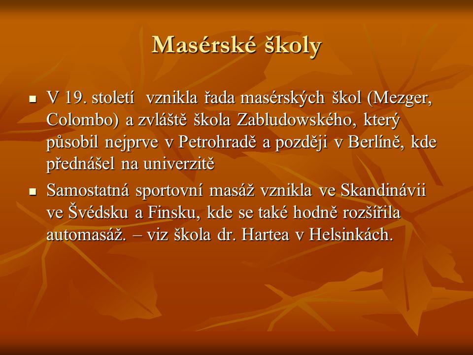 Masérské školy V 19.