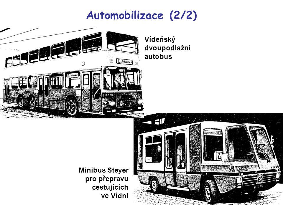 Vídeňský dvoupodlažní autobus Minibus Steyer pro přepravu cestujících ve Vídni Automobilizace (2/2)