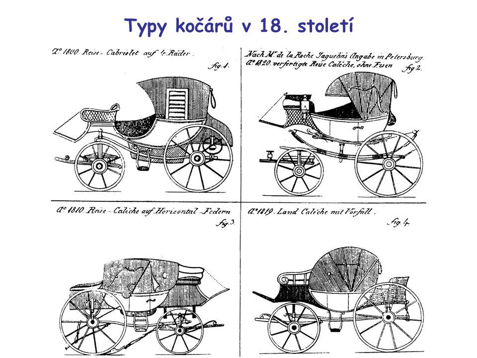 Typy kočárů v 18. století