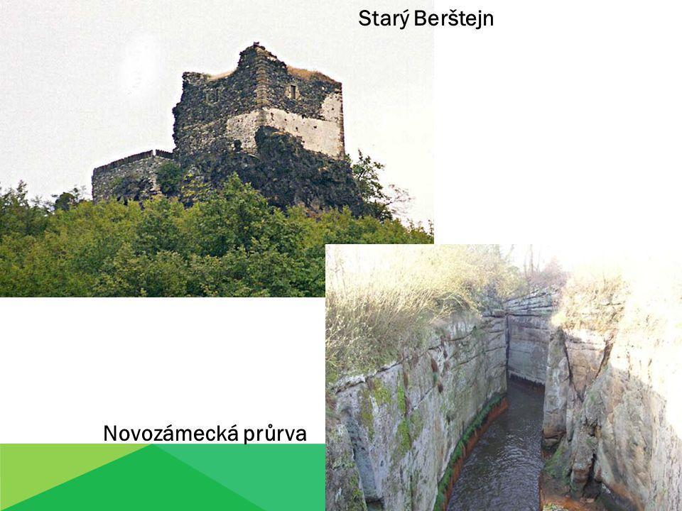 Starý Berštejn Novozámecká průrva