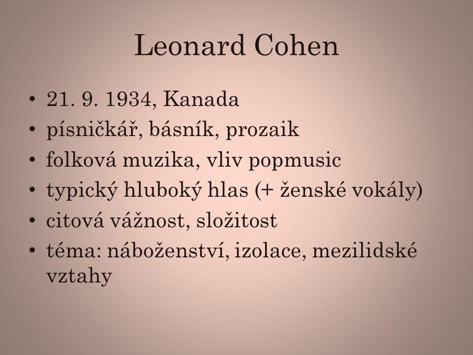 Leonard Cohen 21.9.