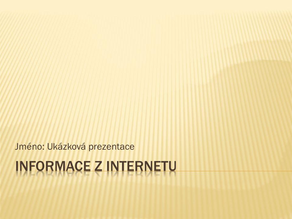 Jméno: Ukázková prezentace