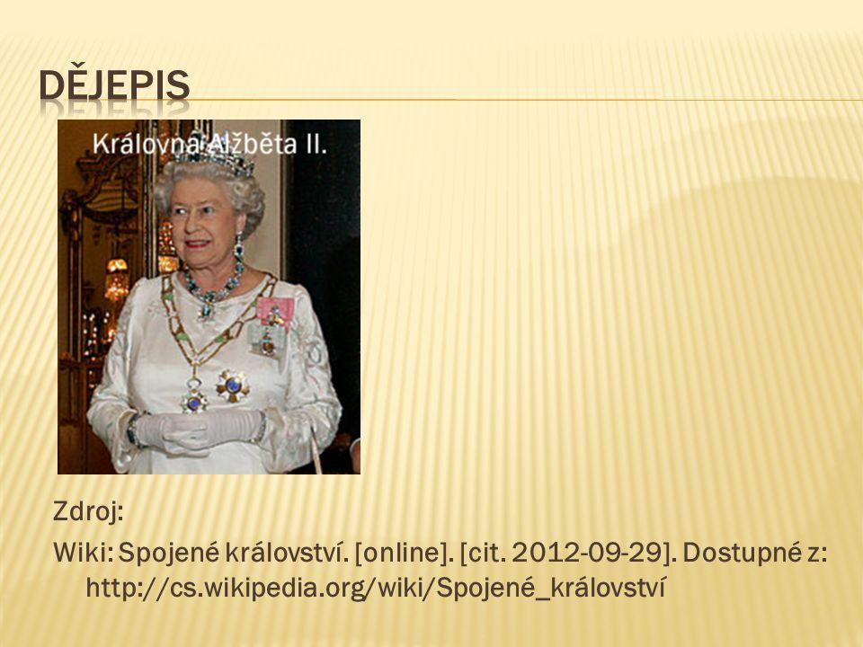 Zdroj: Wiki: Spojené království. [online]. [cit.