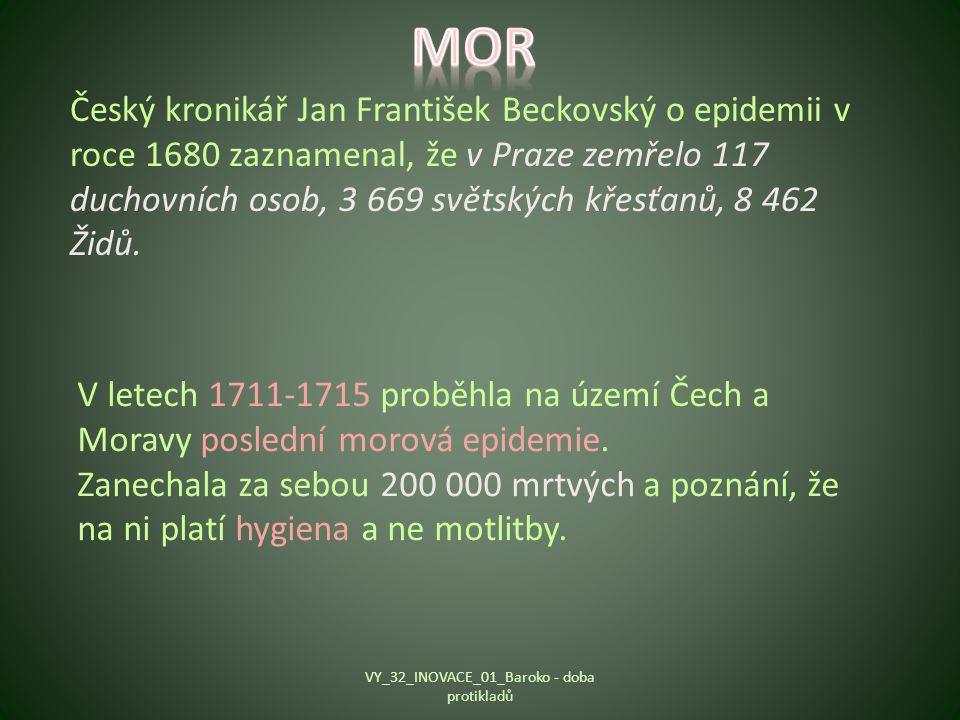 Český kronikář Jan František Beckovský o epidemii v roce 1680 zaznamenal, že v Praze zemřelo 117 duchovních osob, 3 669 světských křesťanů, 8 462 Židů