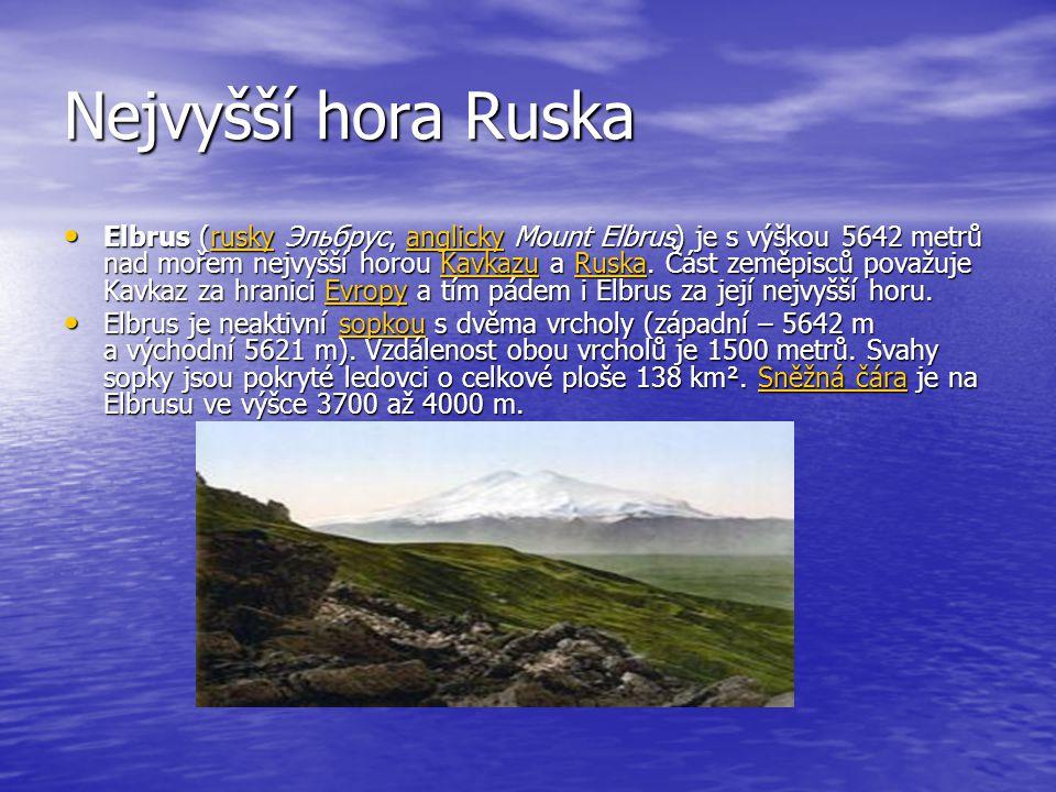 Nejvyšší hora Ruska Elbrus (rusky Эльбрус, anglicky Mount Elbrus) je s výškou 5642 metrů nad mořem nejvyšší horou Kavkazu a Ruska. Část zeměpisců pova
