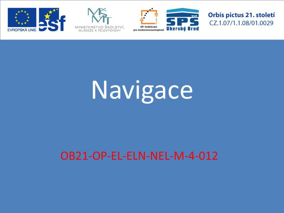 OB21-OP-EL-ELN-NEL-M-4-012 Navigace