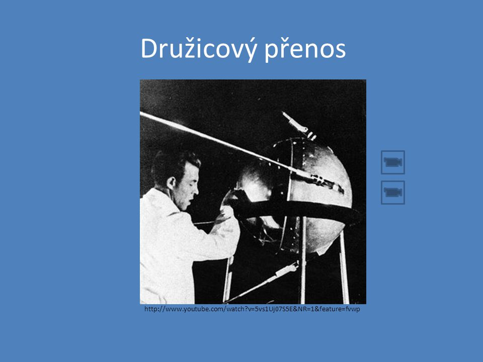 Družicový přenos http://www.youtube.com/watch?v=5vs1Uj07S5E&NR=1&feature=fvwp