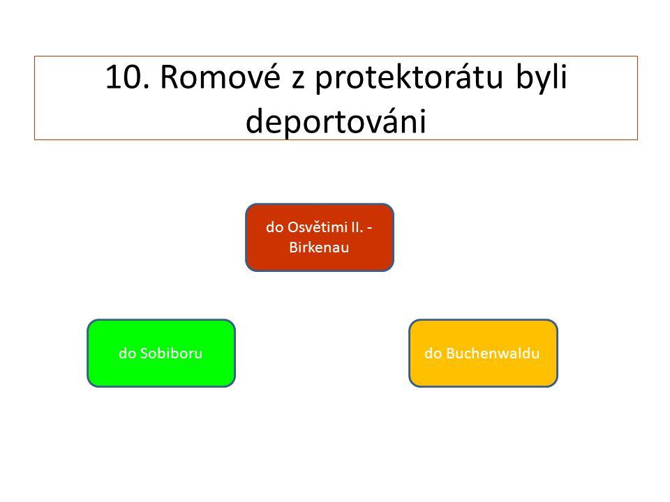 10. Romové z protektorátu byli deportováni do Sobiboru do Osvětimi II. - Birkenau do Buchenwaldu