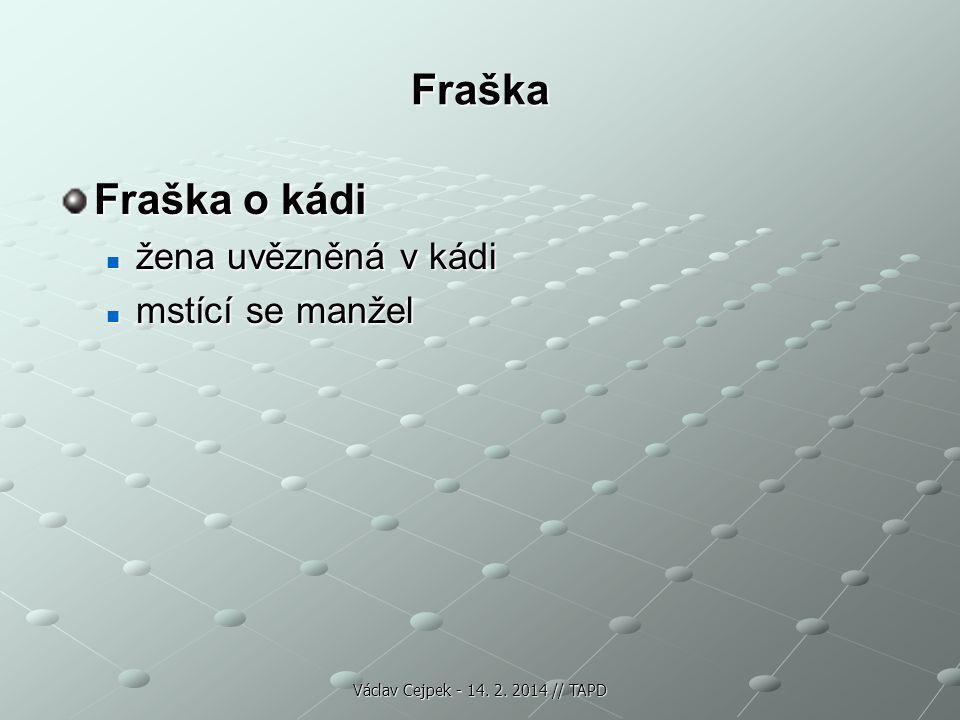 Fraška Fraška o kádi žena uvězněná v kádi žena uvězněná v kádi mstící se manžel mstící se manžel Václav Cejpek - 14. 2. 2014 // TAPD
