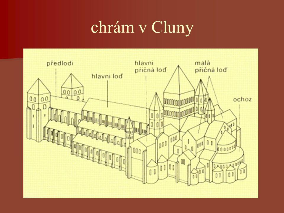 chrám v Cluny