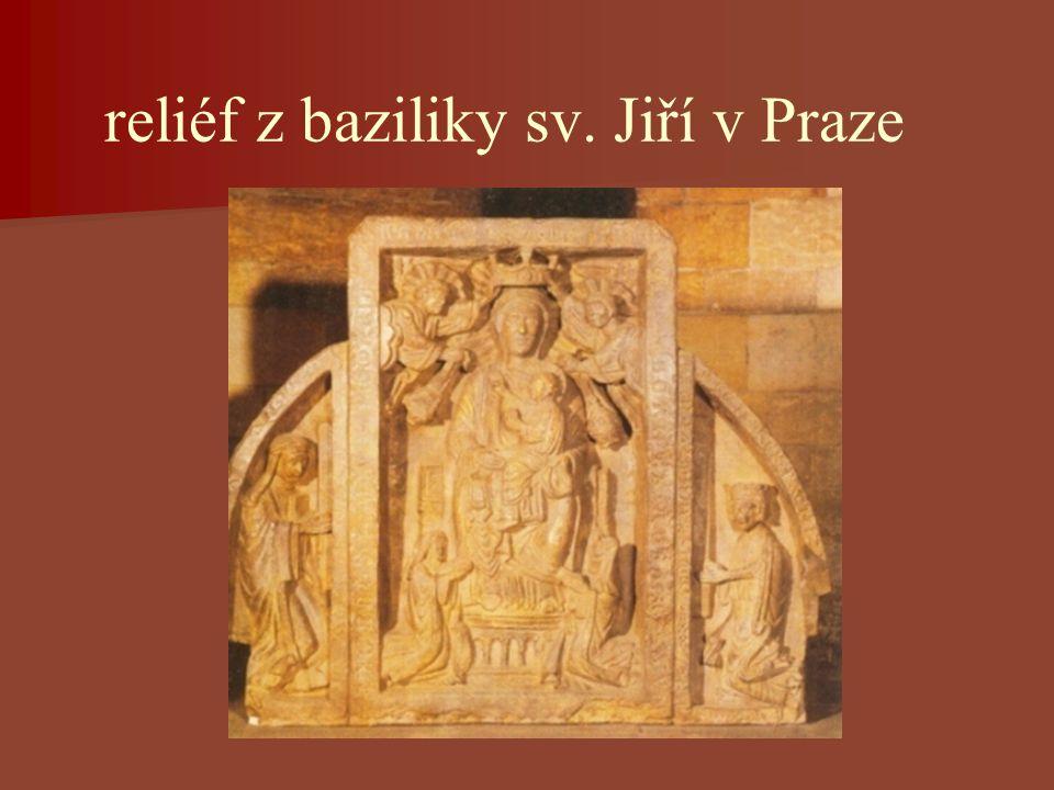 reliéf z baziliky sv. Jiří v Praze