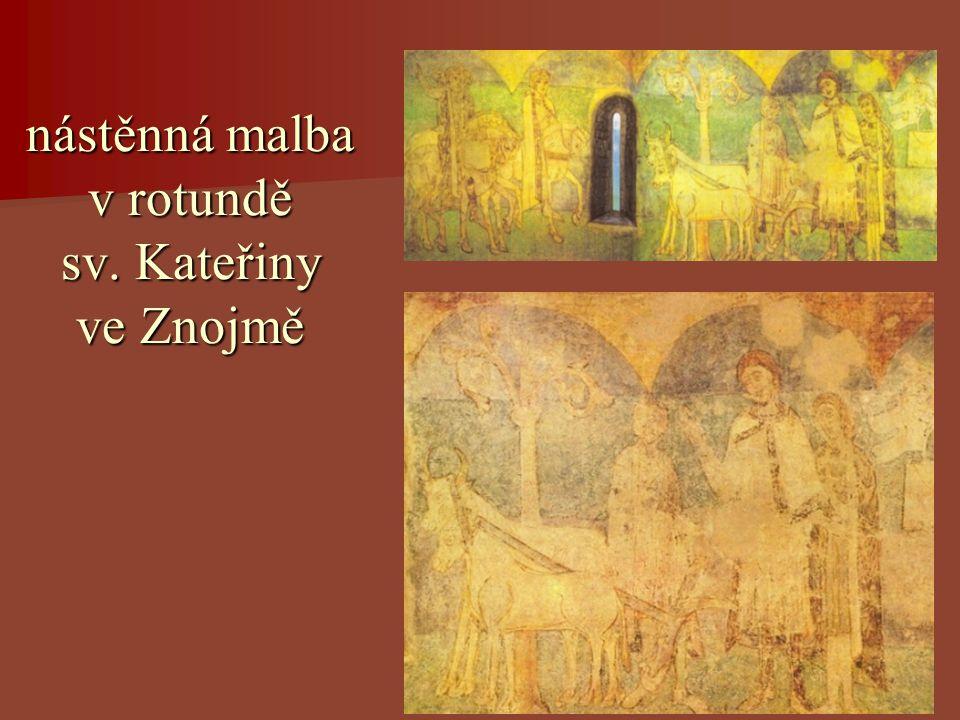 nástěnná malba v rotundě sv. Kateřiny ve Znojmě