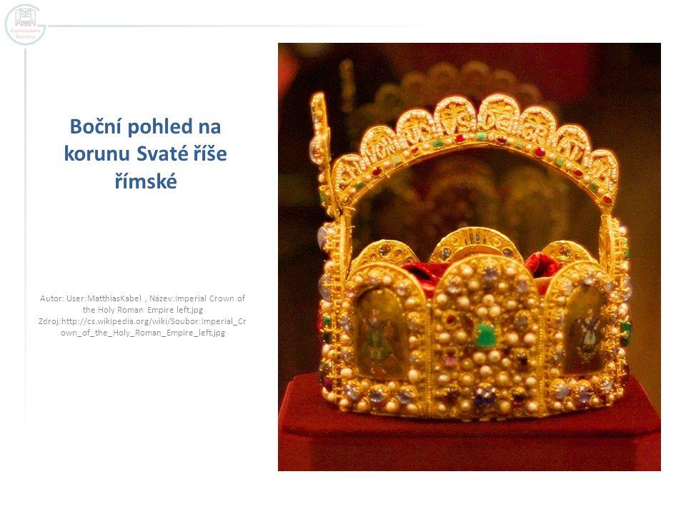 Koruna Svaté říše římské  Originál (3,5 kg) je vystaven ve Světské klenotnici v Hofburgu ve Vídni, kam se klenoty dostaly z Norimberka roku 1796.