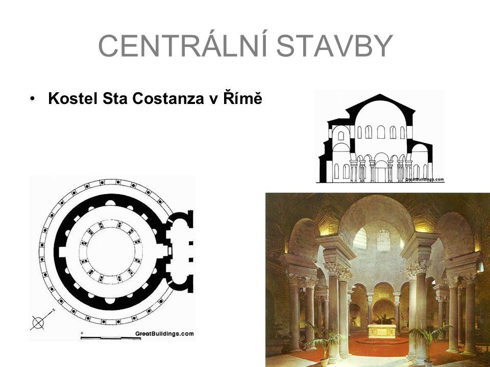 CENTRÁLNÍ STAVBY Kostel Sta Costanza v Římě