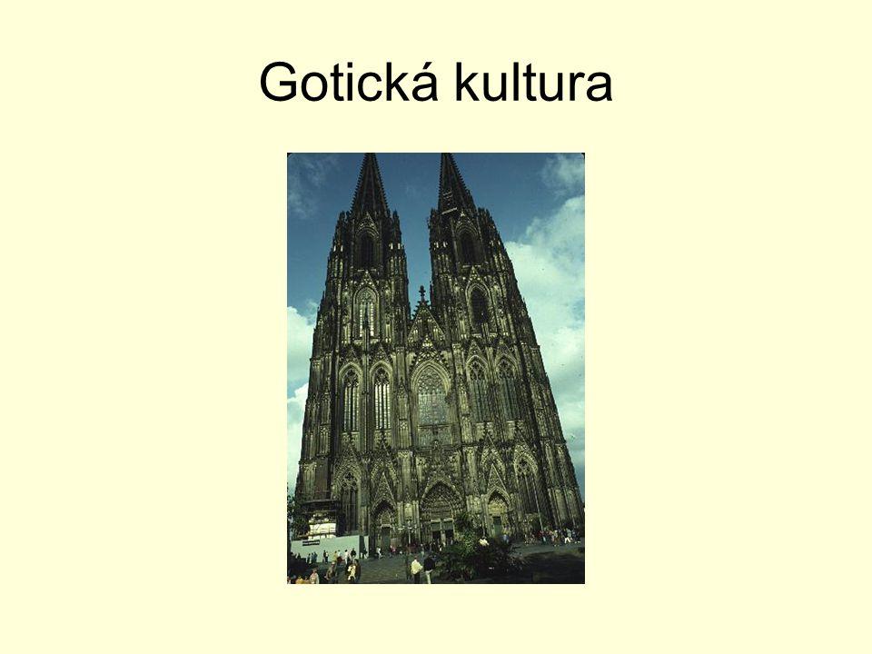 Základní pojmy Gotika je umělecký sloh plynule navazující na románský sloh.Začíná se projevovat od druhé poloviny 12.