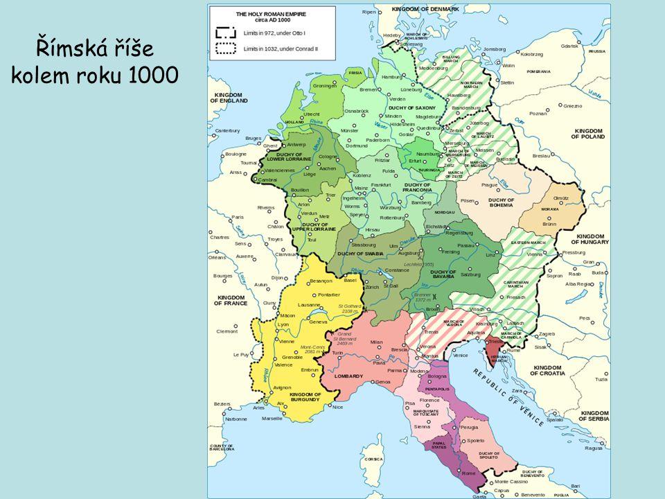 Římská říše kolem roku 1000