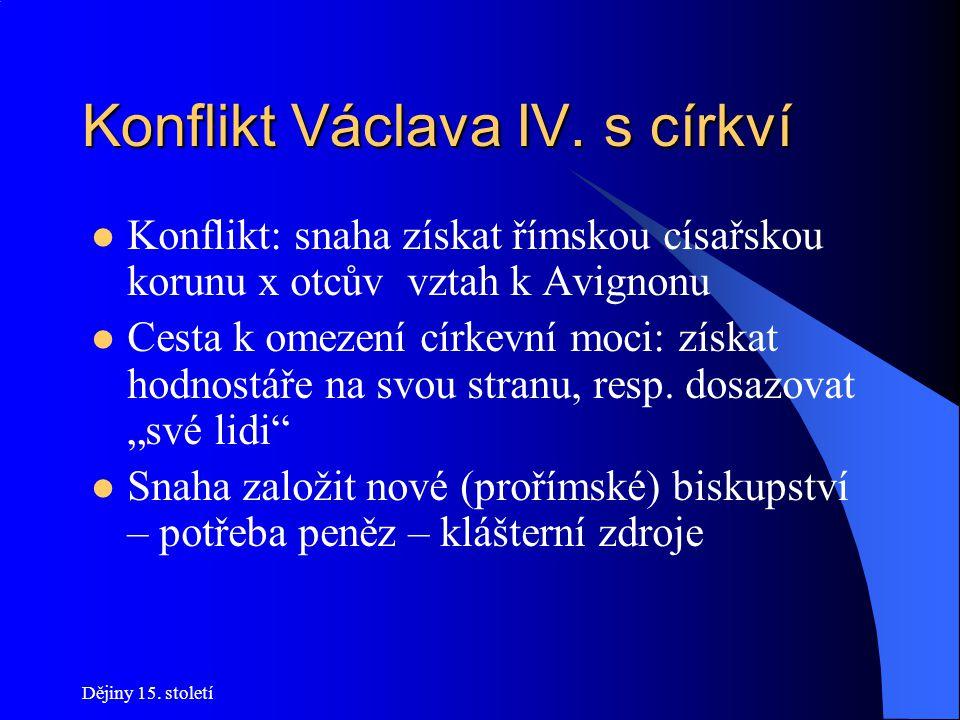 Dějiny 15.století Občanská válka 1419-1434 Boj o Prahu Vyjednávání neúspěšné (Kalich!) 28.
