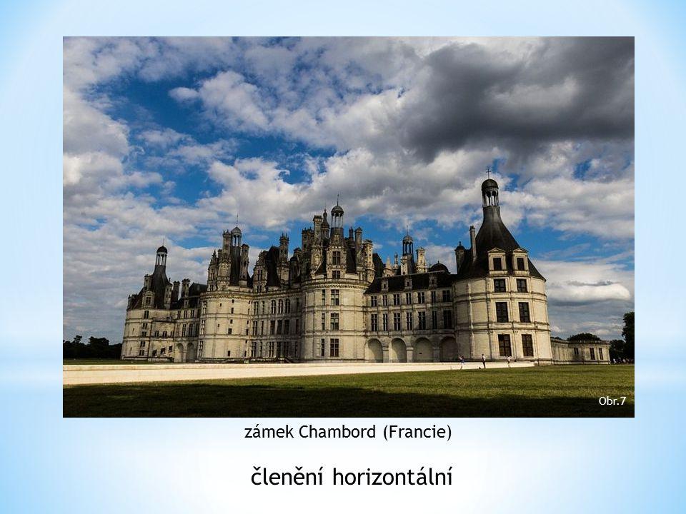 zámek Chambord (Francie) členění horizontální Obr.7