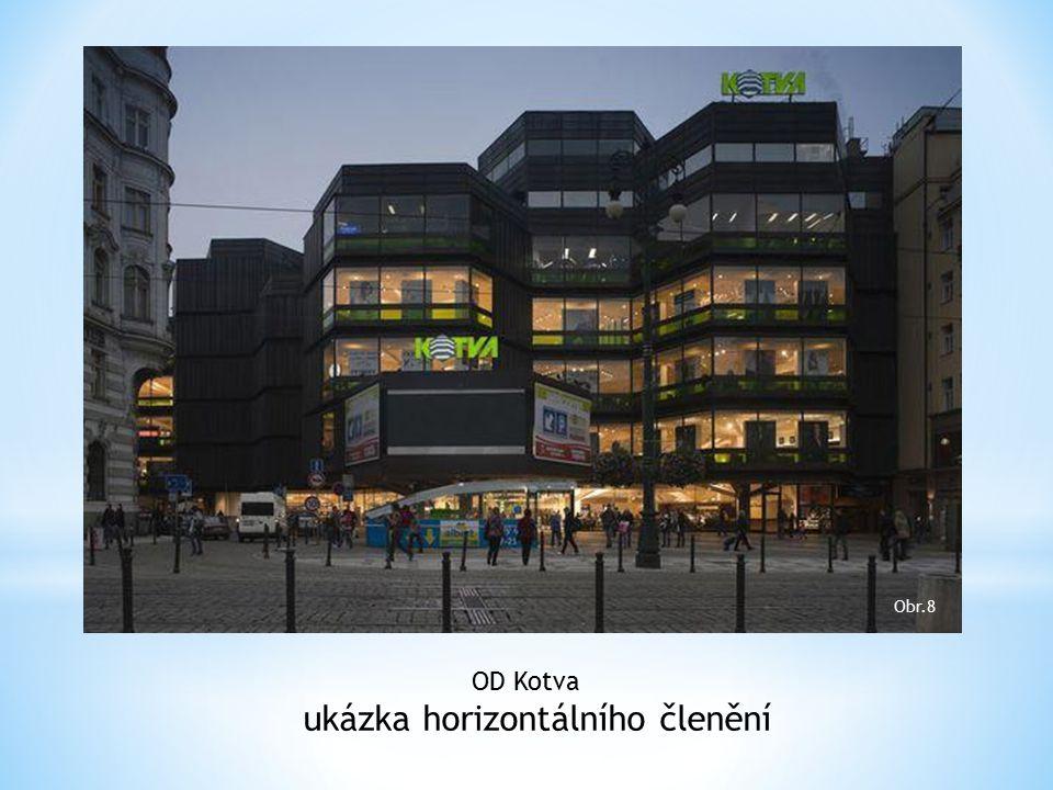 OD Kotva ukázka horizontálního členění Obr.8